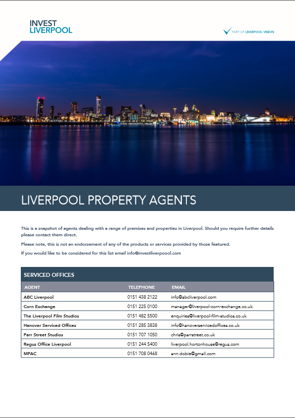 LIVERPOOL PROPERTY AGENTS CONTACT LIST