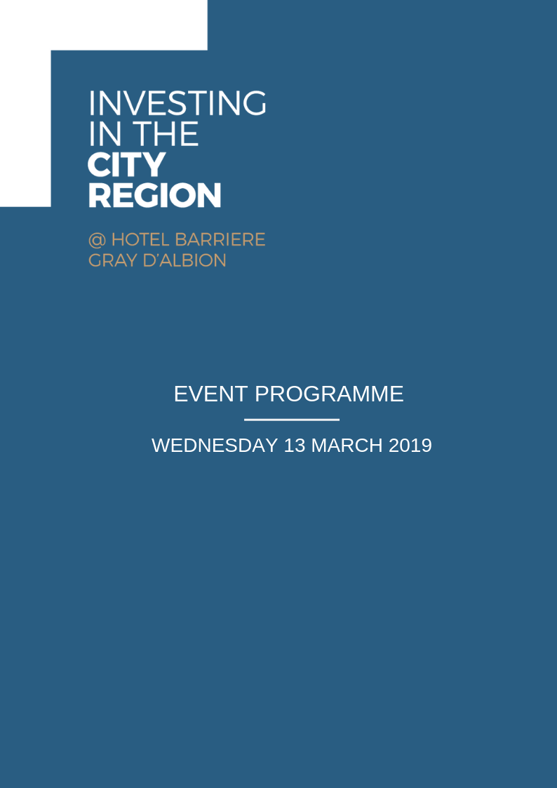 INVESTING IN THE LIVERPOOL CITY REGION – EVENT PROGRAMME 13 MARCH 2019