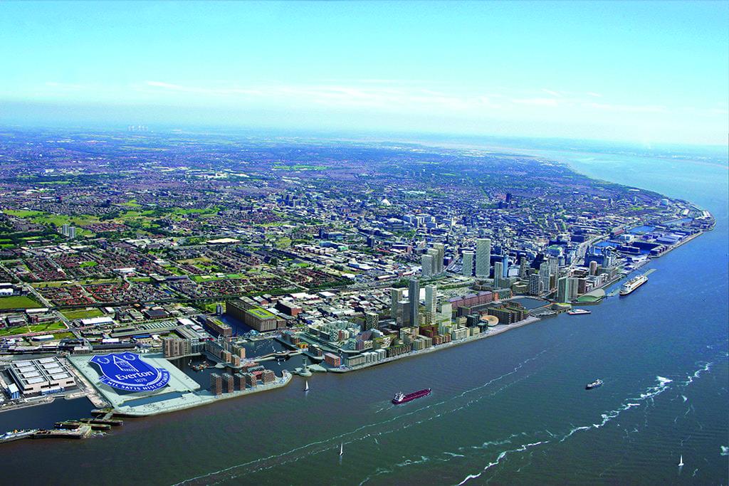Liverpool Waters aerial CGI