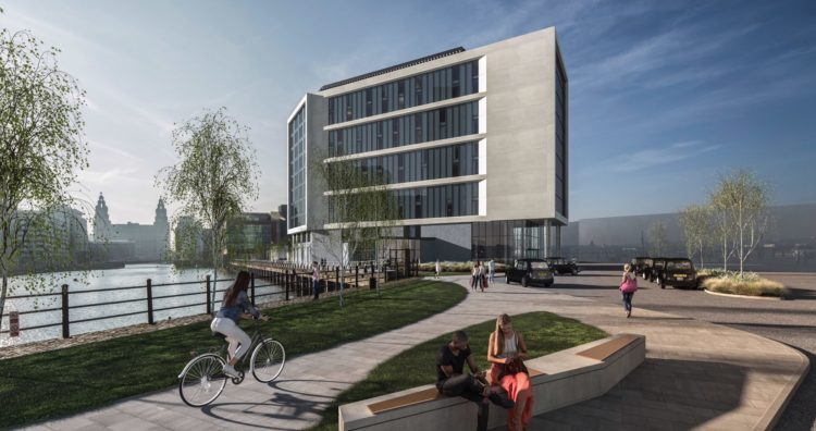 CGI of how the four-star hotel at Liverpool Cruise terminal will look